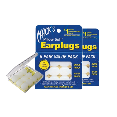Macks Pillow suave tapones duo pack 2 x 6 pares